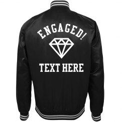 Custom Engagement Gift Bomber Jacket For Future Mrs