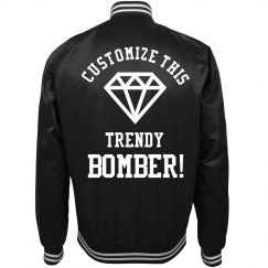 Custom Text Bride and Bachelorette Bomber Jackets