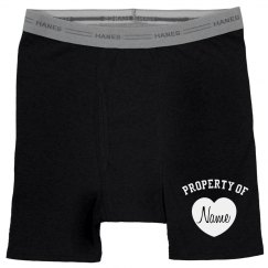 Property Of Custom Name Groom Boxer