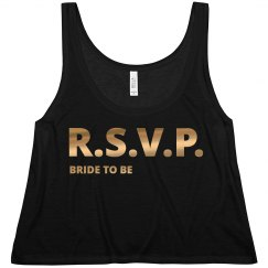 RSVP Bride To Be Gold