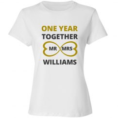 One Year Together Mr Mrs