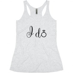 I Do Diamond Ring, Bride Tank Top bachelorette party