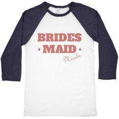 Bridesmaid Raglan Tee