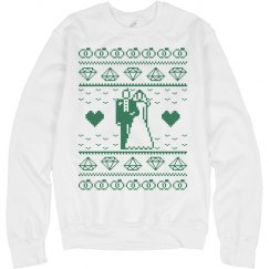 Christmas wedding green sweatshirt.