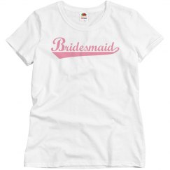 Bridesmaid Pink Basic Tee
