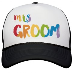 Colorful Mrs. Groom Trucker Hat
