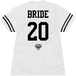 Custom Team Bride Name and Number Jersey