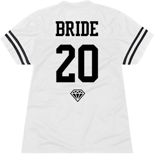 cbb8ddbba4d Custom Team Bride Name and Number Jersey Ladies Relaxed Fit Mesh Football  Jersey