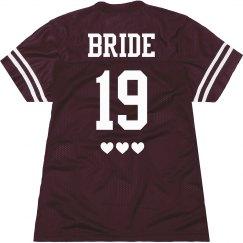 Custom Sports Jersey Bride