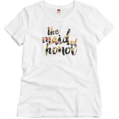 Floral Maid of Honor Tshirt