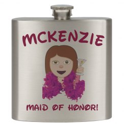 Bridesmaid Emoji Flask