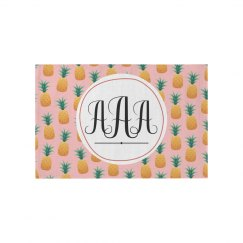 Custom Initials Pineapple Home Decor