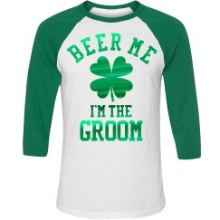 Metallic Beer Me Irish Groom Raglan