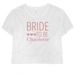 Bride To Be Pink Hearts