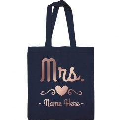 Mrs. Newlywed Custom Tote