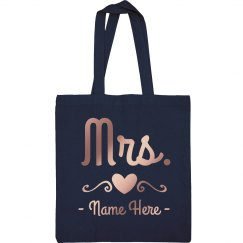 Mrs. Newlywed Custom Tote
