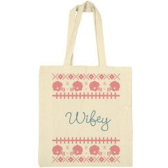 Ugly Christmas Wifey Tote