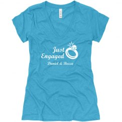 Just Engaged Date Tee