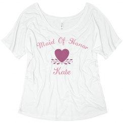 Maid of honor black
