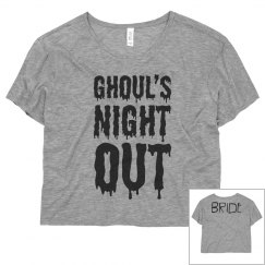 Bride Ghouls Night Out Bachelorette Party Tees