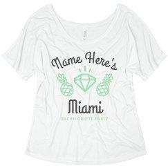 Custom Miami Bride Flowy Tee