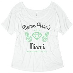 Custom Miami Bride Flowy Tee