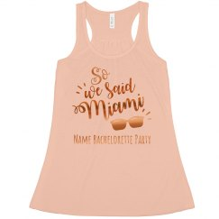 Metallic We Said Miami Bachelorette Tank