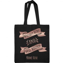 Whiskey Bent and Veil Bound Bride Tote