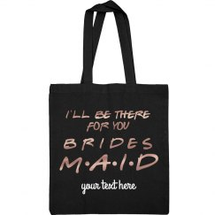 Friends Bridesmaid Custom Metallic Tote