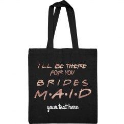 Friends Bridesmaid Custom Metallic Tote