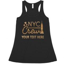 Metallic New York City Bride Crew