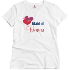 Maid of honor tshirt