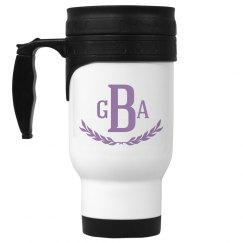 Purple Monogram Initials