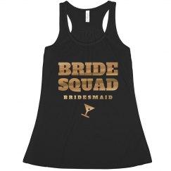 Bride Squad Metallic Gold/Black