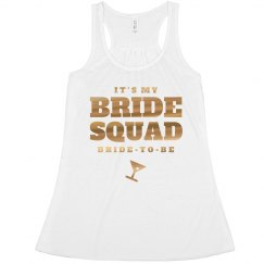 Bride Squad Metallic Gold To Be