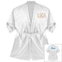 Monogram Bride Rose Metallic Robe