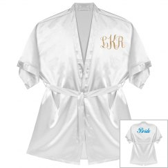 Monogram Bride Rose Metallic Robe
