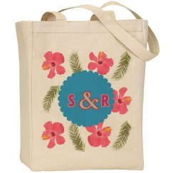 Monogram Wedding Tote Bag
