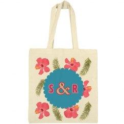 Monogram Wedding Tote Bag