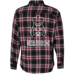 Nut Cracker Groom Flannel Shirt