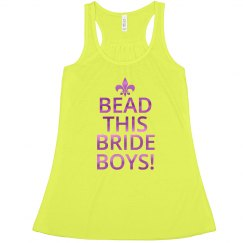 Mardi Gras Bead This Bride