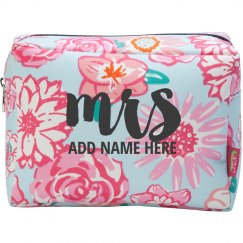 Custom Floral Mrs. Makeup Holder
