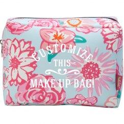 Custom Polka Dot Makeup Bag