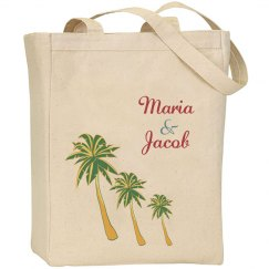 Beach Wedding Tote Bag