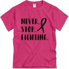 Men's Tshirt Never Stop Fighting
