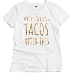 Getting Tacos Gold Metallic