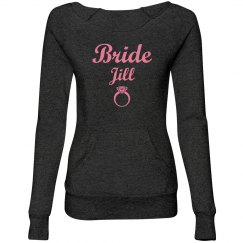Bride Scripty Sweatsuit Top