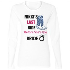 Last Ride Before the Bride Bling Tee