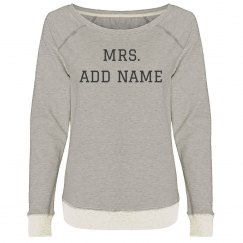 Distressed Mrs Custom Name