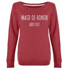 Custom Name Maid Of Honor